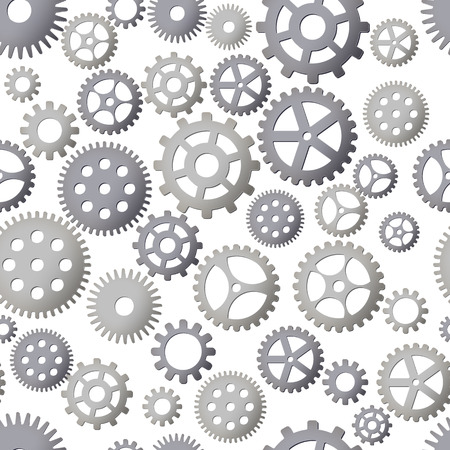 Seamless pattern background with gears. Steel Details. Vector illustration. Steampunk design.