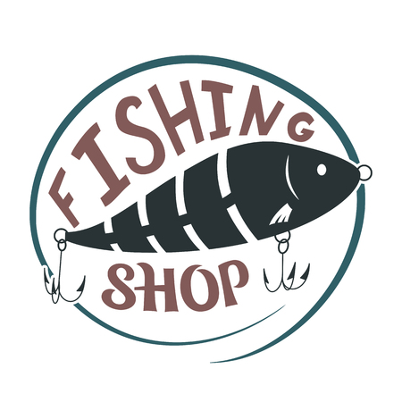 Fishing shop. Wobbler lure for fish. Simple icon. Vector illustration