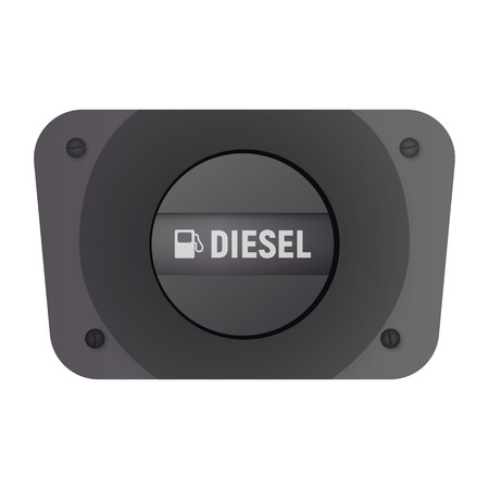 Fuel filler flap. Vector illustration. Diesel transport. Car equipment