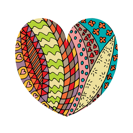 Shape of heart tangle pattern. Vector illustration. Valentine s day. Greeting card. Stock Photo