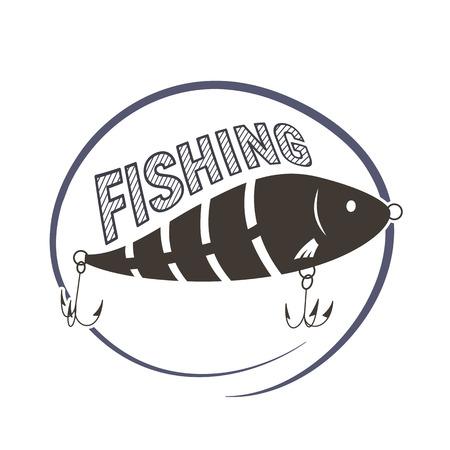 Wobbler lure for fish. Fishing icon. Vector illustration