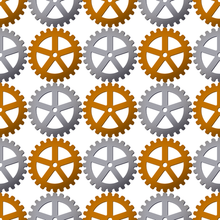Seamless pattern background with gears. Vector illustration. Clockwork design.