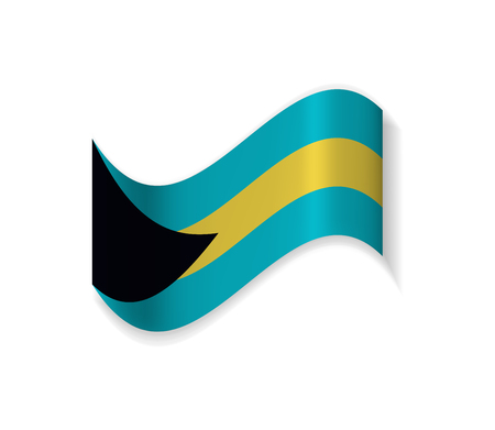 The flag of the Bahamas. Country of North America. National symbol. Vector illustration.