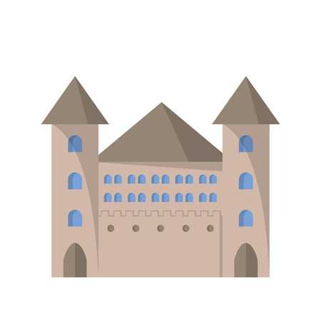Castle flat icon. Vector illustration. Architecture and design Stock Photo
