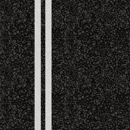 Road marking. Vector illustration. The texture of the asphalt.