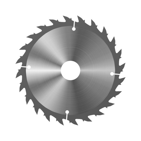 Circular saw. Vector illustration. Joiners working tools 일러스트
