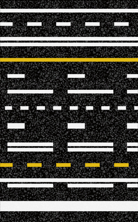 Road surface marking. Vector illustration. The texture of the asphalt. Stock Illustratie