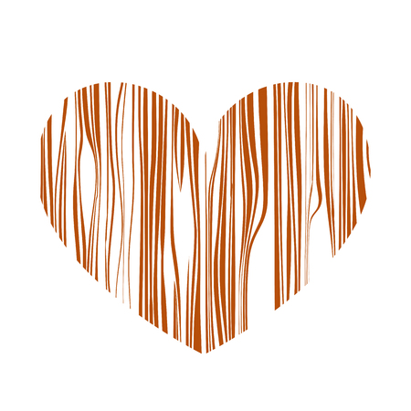 Heart with stripes. Vector illustration. Valentines day. Greeting card Ilustrace