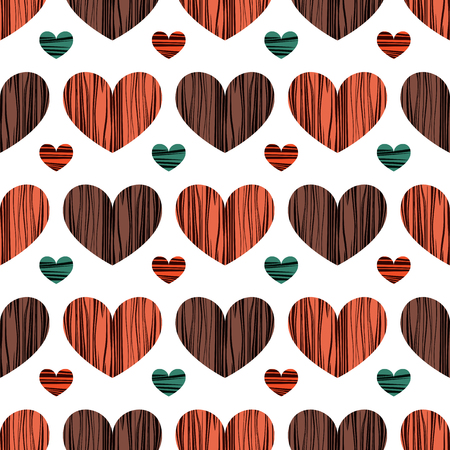 Lovely colorful hearts. Seamless pattern background. Vector illustration