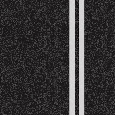 A double line. Vector illustration. The texture of the asphalt.