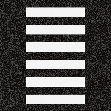Zebra crossing. Vector illustration. The texture of the asphalt.