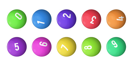 Balls for lottery collection. Vector illustration. Games of chance.