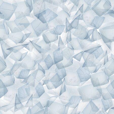 Ice texture. Seamless pattern background. Vector illustration. Winter design.