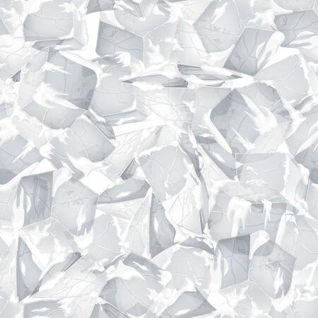 Textura de hielo y nieve. Fondo transparente. Ilustración de vector. Diseño de invierno.