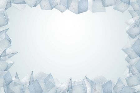Ice texture frame. Vector illustration. Valentines Day Card.