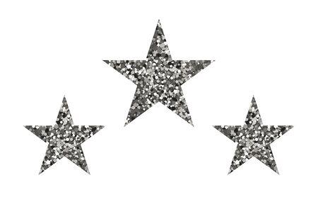 Silver luxury stars. Vector illustration. The texture of glitter
