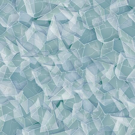 Ice seamless pattern background. Vector illustration. Winter design.