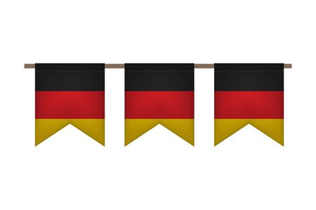 Germany garland with flags. Oktoberfest. Carnaval and festival event. Vector illustration. Black, red, yellow