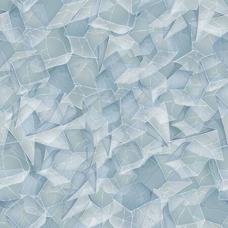 Ice realistic texture. Seamless pattern background. Vector illustration. Winter design. Illusztráció