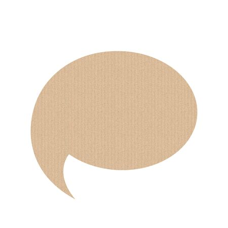 Bubble speech is in the shape of a round. The texture of the cardboard. Vector illustration. The message banner. Фото со стока - 131387401