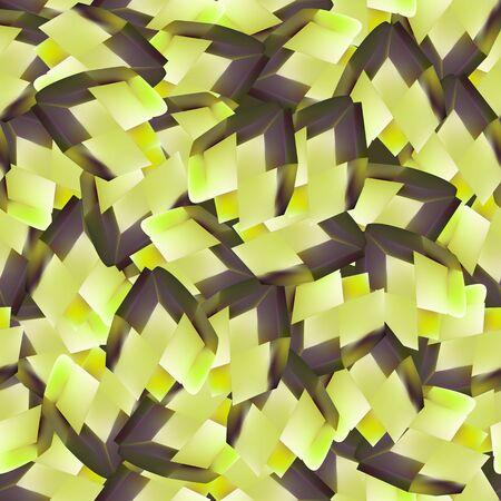 Yellow diamond shape. Seamless pattern background. Vector illustration.  イラスト・ベクター素材