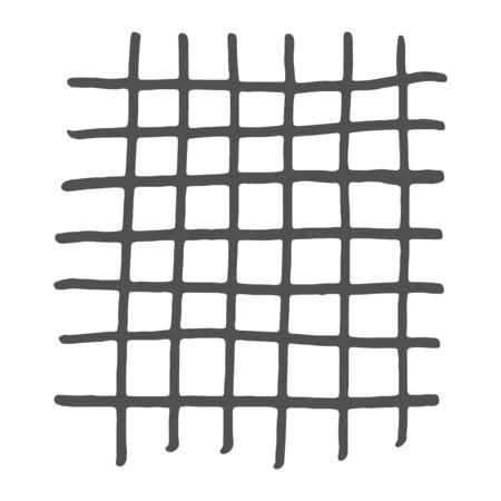 Handdrawn gray grid. Vector illustration. Stroke ink and marker. Ilustracja