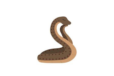 Cute snake on a white background. Sweet dreans. Vector illustration. Иллюстрация