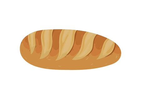 Bread bakery. Vector illustration. Snack and breakfast food.