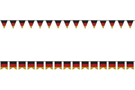 Germany garland with flags. Carnaval and festival decoration. Vector illustration. Black, red, yellow