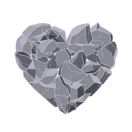 Stone texture heart. Vector illustration. Valentine day card. Ilustrace