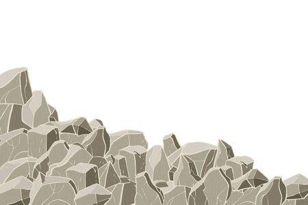 Colline de pierre. Illustration vectorielle. Texture de surface rocheuse.