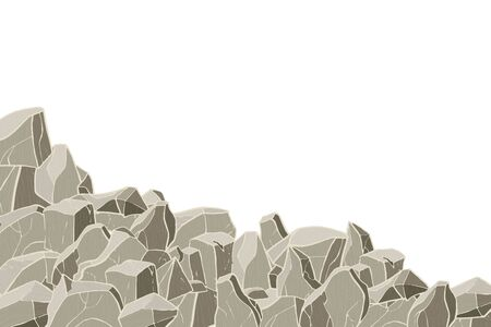 Stone hill. Vector illustration. Rock surface texture.