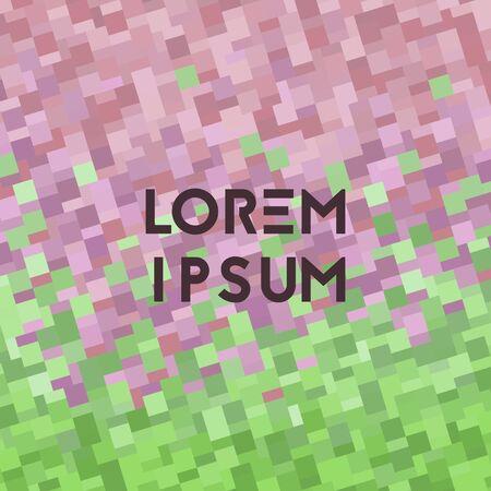 Background with geometry texture. Vector illustration. Gradient spring sunset Ilustração