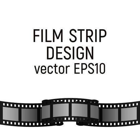 Film strip design. Vector illustration. Cinema production. Border picture. Illusztráció