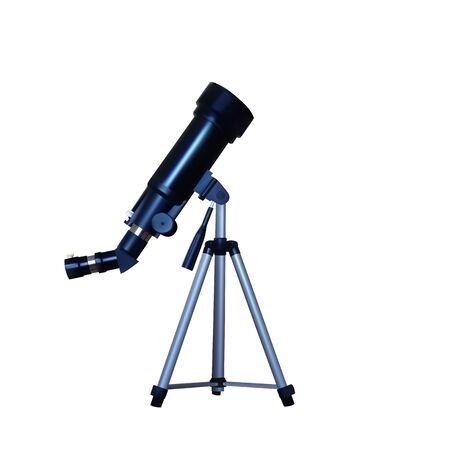 Realistic telescope on a tripod. Vector illustration. Optical equipment.