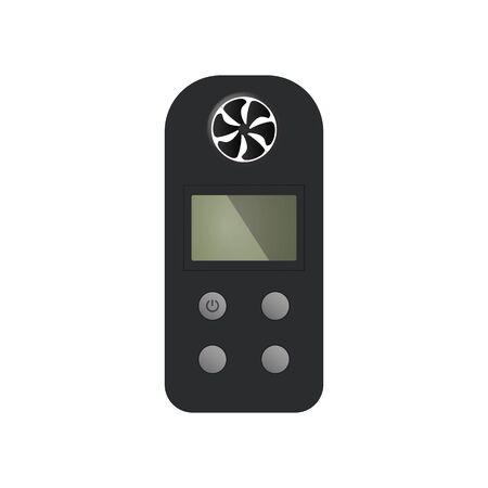Wind meter control device. Vector illustration. Ventilation equipment.