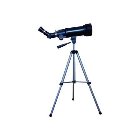 Realistic telescope on a tripod. Vector illustration. White background.