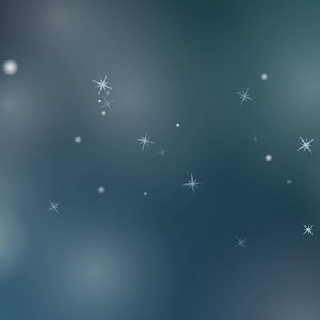 Abstract blue background with glowing particles. Vector illustration.