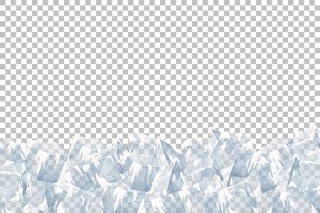 Translucent snow with ice. Vector illustration. Transparent pattern. Illusztráció