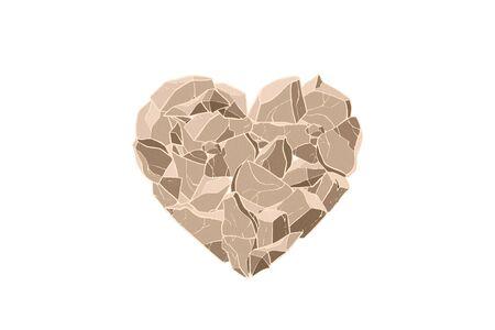 Stone heart. Vector illustration. Valentine day card. Illusztráció