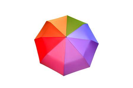 Multicolor umbrella for women. Vector parasol illustration. Protection from rain. Illusztráció