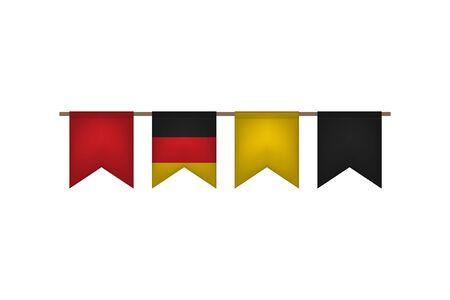 Germany flag garland. Oktoberfest design. Vector illustration. Illusztráció