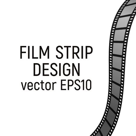 Filmstrip design. Vector illustration. Cinema production Film strip. Border template.