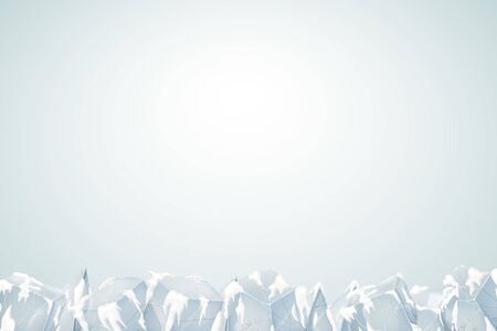 Translucent snow with ice. Vector illustration. Transparency banner.