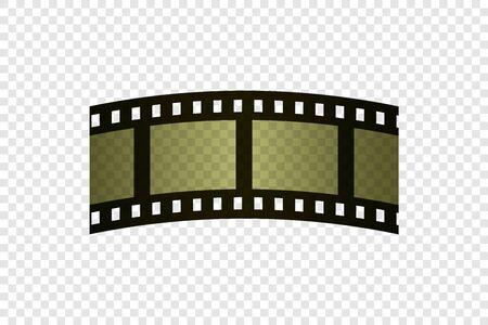 Film strip retro sepia. Vector illustration. Cinema production.