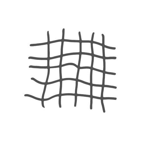 Hand drawn gray grid. Vector illustration. Stroke ink and marker. Illusztráció