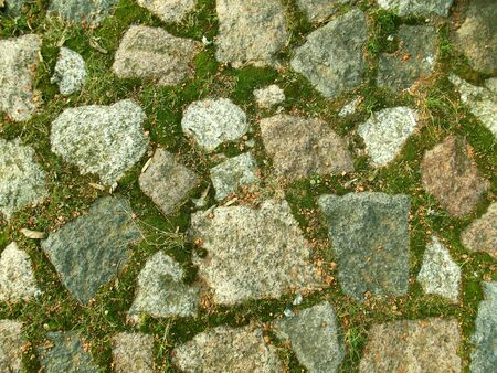 Stone wall with moss. Old surface. Architecture background. Stock fotó - 138174090