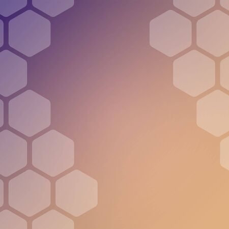 Abstract pink and violet background with hexagons. Web blank card design. Vector illustration.