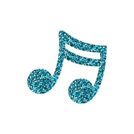 Blue musical note. A spangle texture. Vector illustration.  イラスト・ベクター素材