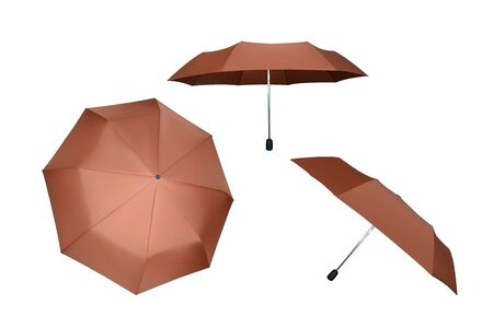 Set of umbrellas. Vector illustration. Protection from rain. Çizim
